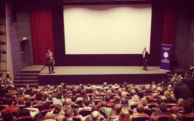 Opening event of #newwavefilmfest in #sofia #bulgaria – my animated film slated for day one (photo by Lyubo Kiroff)