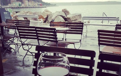 It's a rainy day in paradise… #piran #rain #wine #kant