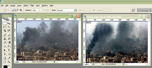 reuters beirut fake 1 Recreate The Reuters Photoshop Scandal