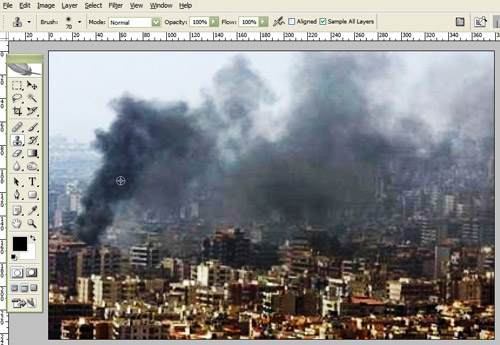 reuters beirut fake 3 Recreate The Reuters Photoshop Scandal