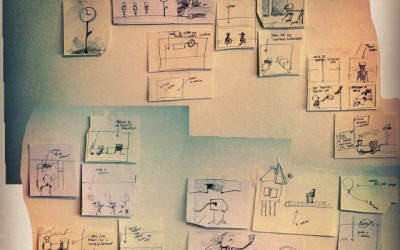 "The first #storyboard for the #animated short film ""Dej povej (tell me)"". It can be seen here: http://ift.tt/1wds9mx"